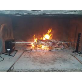 Girarrosto Alimentazione Usb COiDORi® Spiedo Acciaio INOX Fermacarne 4 punte Inox Power Bank