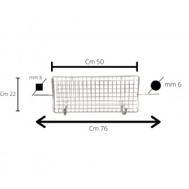 Coppia fermacarne in ACCIAIO INOX 4 punte, per spiedo a sezione esagonale da 16mm (in dotazione nel girarrosto GIGANTE)