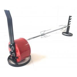 Girarrosto Elettrico Usb COiDORi® Con Regolazione Velocita' Spiedo Acciaio Fermacarne 4 punte Inox
