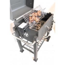 Girarrosto per Barbecue TEPRO,DARDARUGA Alimentazione USB Velocita' Regolabile con Griglia cm 50 x 22
